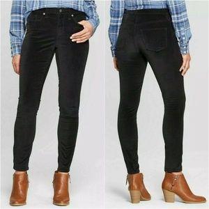 Universal Thread Black Velvet Skinny Jeans